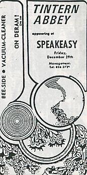 Appearing at SPEAKEASY
